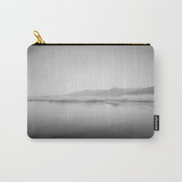 Lake Scene In Black And White Carry-All Pouch