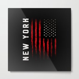 New York American flag Metal Print