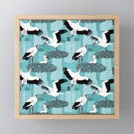Storks Framed Mini Art Print