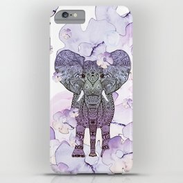 FLOWER SHOWER ELEPHANT iPhone Case
