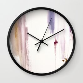 Sugar and Spice [2]: a minimal, pretty abstract piece in pinks, purple, mauve, and tan Wall Clock