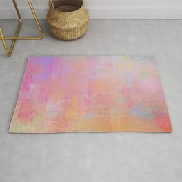 Cotton Candy Abstract Rug