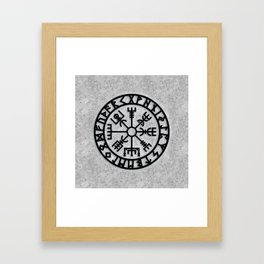 Vegvisir - Futhark - Runes - Navigator Framed Art Print