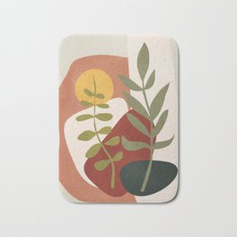 Two Abstract Branches Bath Mat