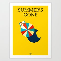 Summer's gone Art Print