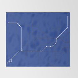 London Underground Piccadilly Line Route Tube Map Throw Blanket