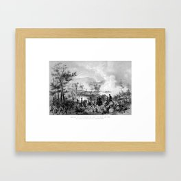 Battle of Gettysburg -- Civil War Framed Art Print