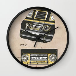 patent Selective stereo tape cartridge player Wall Clock