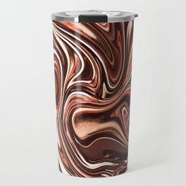 Liquid Golden Marble 011 Travel Mug