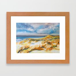 Ostend`s Dunes Framed Art Print