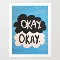 the fault in our stars Art Prints featuring The Fault in Our Stars. by Emma Morrison