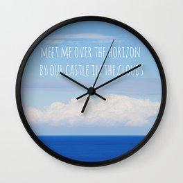 Meet me over the horizon Wall Clock