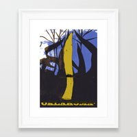 oklahoma Framed Art Prints featuring Oklahoma! by LizSchafroth