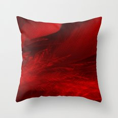 Scarlet Feathers Throw Pillow