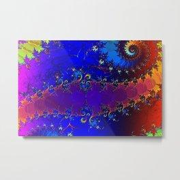 Rainbow Whirl 3D Fractal Metal Print