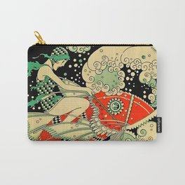 """""""Water"""" Art Deco By J Carlos Carry-All Pouch"""