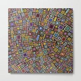 Squares Dancing Metal Print