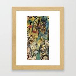 Cliffs And Roots Framed Art Print