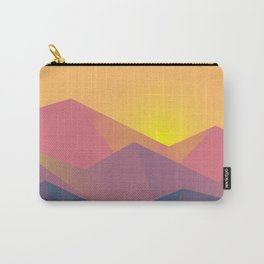Sunset Mountains Polygons Carry-All Pouch