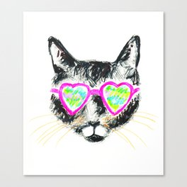 kitty cat cool Canvas Print