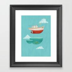 Floating Boat Framed Art Print