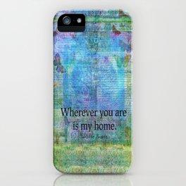 Jane Eyre Romantic Quote Charlotte Bronte iPhone Case
