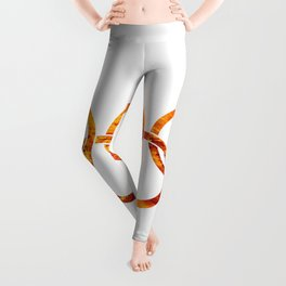 Flaming Olympic Rings Leggings