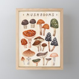 Mushrooms Framed Mini Art Print