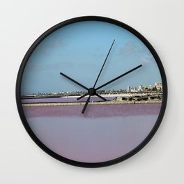 Rosy Red Salt Lakes Wall Clock