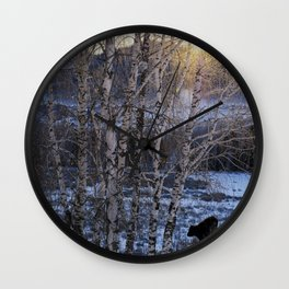 Snow Kanas Wall Clock