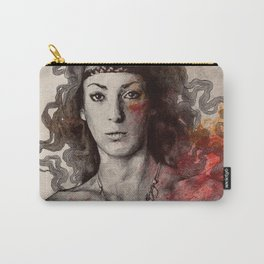 Colony Collapse Disorder (topless warrior woman with leaves on nude breasts) Carry-All Pouch