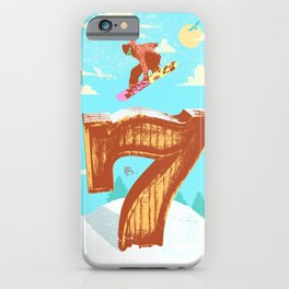SNOWBOARDING SEVEN iPhone Case