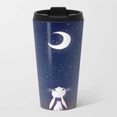 Moon Bunny Metal Travel Mug