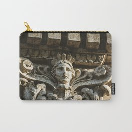 Uptown Chicago Architectural Detail Stone Face  Carry-All Pouch