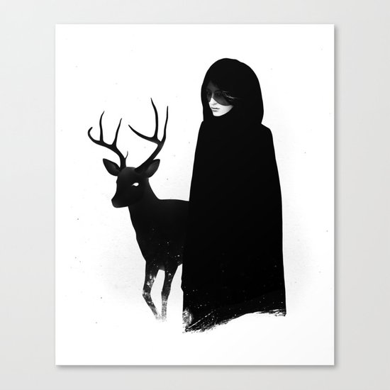 Absentia in white Canvas Print