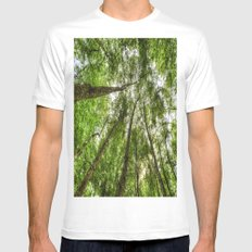 Nature Reaching For The Sky White Mens Fitted Tee MEDIUM