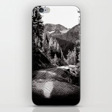 The road through the forrest below the mountains iPhone & iPod Skin