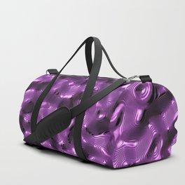 Purple Metallic Liquid Surface Duffle Bag