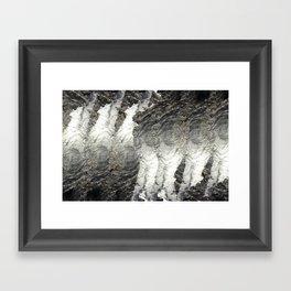 Black Ice Framed Art Print