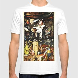 Bosch Garden Of Earthly Delights Panel 3 - Hell T-shirt