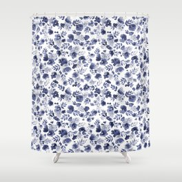 Floret Indigo Ditsy Shower Curtain