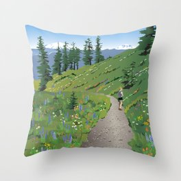 Silver Star Mountain Throw Pillow