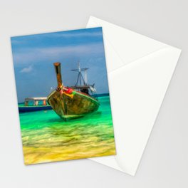 Thai Longboats Art Stationery Cards