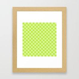 Citrus Checkerboard Framed Art Print