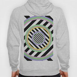 Circles, stripes and pastel colours Hoody