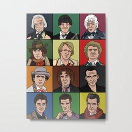 The Twelve Doctors Metal Print