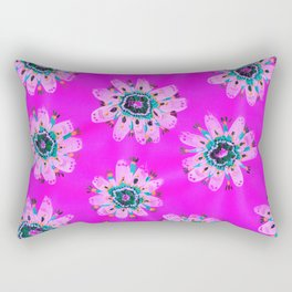 Neon Lilly Lace Rose Rectangular Pillow