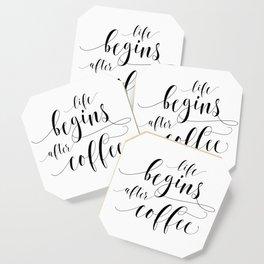PRINTABLE Art,Life Begins After Coffee,Coffee Sign,Coffee Print,Bar Decor,Restaurant Decor Coaster
