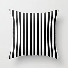 Stripe Black & White Vertical Throw Pillow