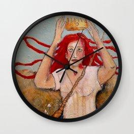 Crowning Herself Wall Clock